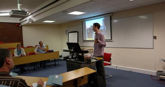 Dean Thompson conducting a workshop